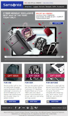 image of Overdrive Interactive Wins 2012 Best Retail Email Message Campaign, Best Shopping Email Message Campaign Internet Advertising Award for Samsonite Email Marketing Campaign